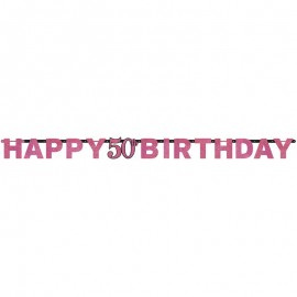 Festone 50 Compleanno Elegant Pink