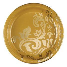 18 Platos Bodas De Oro 26 cm