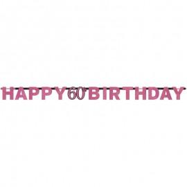Festoni Compleanno 60 Anni Elegant Pink
