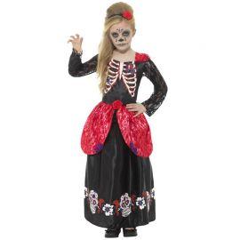 Costume del Giorno dei Morti Deluxe per Bambina
