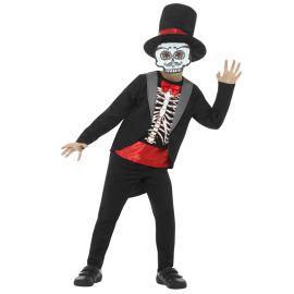 Costume del Giorno dei Morti con Maschera per Bimbo
