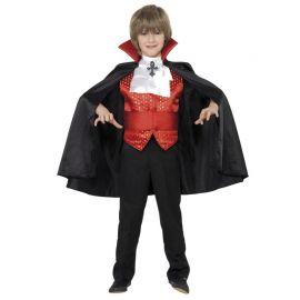 Disfraz de Drácula Rojo para Niño