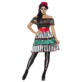 Disfraz Típico del Día de los Muertos para Mujer