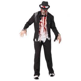 Disfraz de Gángster Zombie para Hombre