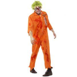 Disfraz de Preso Condenado a Muerte Zombie para Hombre