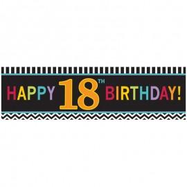 Striscione Happy Birthday 18 Chevron