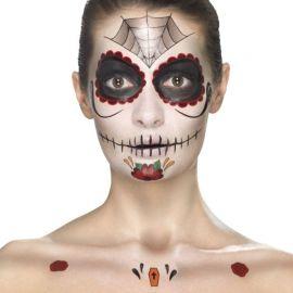 Calcomanias Día de los Muertos para la Cara