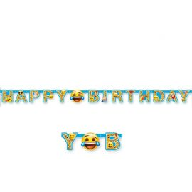 Festone con Emoticons Happy Birthday