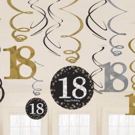 12 Decorazioni Appese 18 Elegant