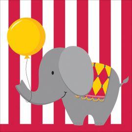 16 Tovaglioli Circus Time 33 cm