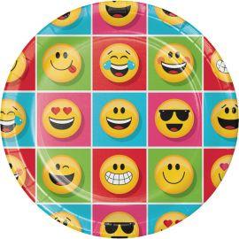 8 Piatti Emoticons 23 cm