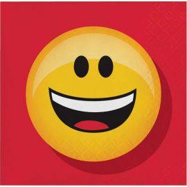16 Tovaglioli Emoticon 25 cm