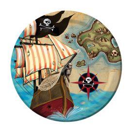 8 Piatti Nave Pirata 18 cm