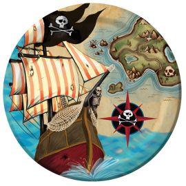 8 Piatti Nave Pirata 23 cm