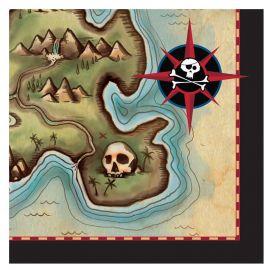 16 Tovaglioli Nave Pirata 25 cm