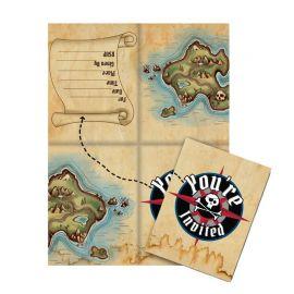 8 Biglietti per Inviti Nave Pirata