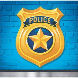 16 Tovaglioli Polizia 25 cm