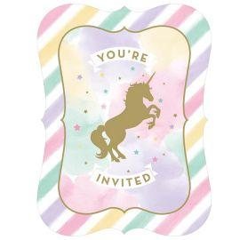 8 Inviti Unicorno Sparkle