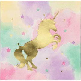 16 Tovaglioli Unicorno Sparkle 33 cm