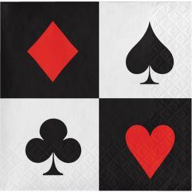 16 Tovaglioli Poker 25 cm