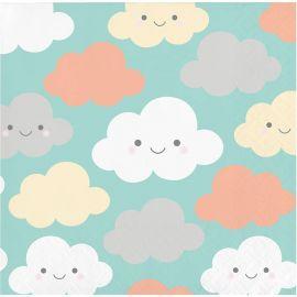 16 Tovaglioli Nuvole 25 cm