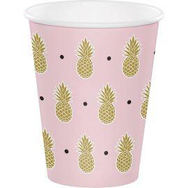 8 Bicchieri Ananas Matrimonio 255 ml