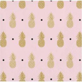 16 Tovaglioli Ananas Matrimonio 25 cm