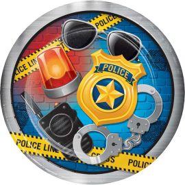 8 Piatti Polizia 23 cm