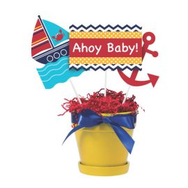 3 Bastoncini Centrotavola Ahoy Matey