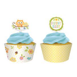 Pirottino e Topper Cupcake Happi Tree