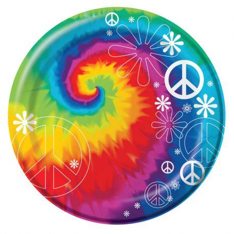 8 Piatti Hippie 18 cm