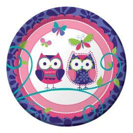 8 Piatti Owl Pal Birthday 18 cm