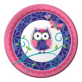 8 Piatti Owl Pal Birthday 23 cm