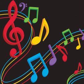 16 Tovaglioli Musica 25 cm