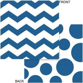 16 Tovaglioli Chevron Azzurri