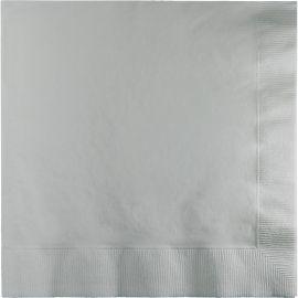 50 Tovaglioli Color Argento 33 cm