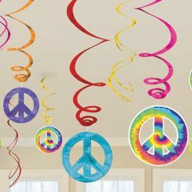 12 Decorazioni Appese Hippie forma Spirale