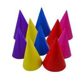 8 Cappelli forma Cono Colori Assortiti
