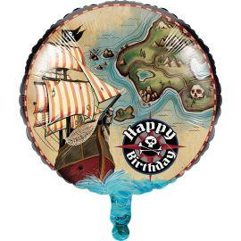 Palloncino Mappa dei Pirati 45 cm