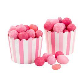 20 Pirottini Cupcake con Righe e Rose