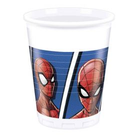 8 Bicchieri Spiderman 200 ml