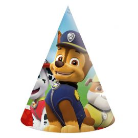 6 Cappellini Paw Patrol di carta
