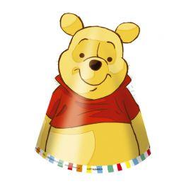 6 Cappellini Winnie The Pooh di Carta
