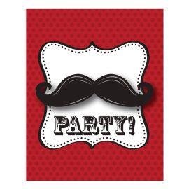 8 Inviti Mustache Madness