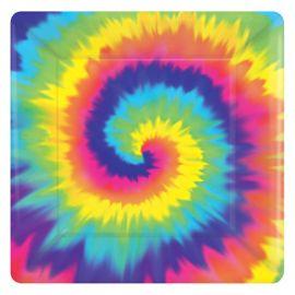 8 Platos Hippie Cuadrados 18 cm