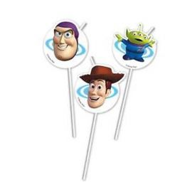 6 Cannucce Medaglione Toy Story