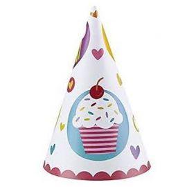 6 Cappelli Cupcake a forma di Cono