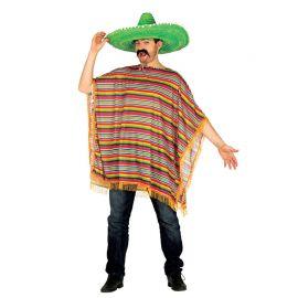 Costume Messicano con Poncho Colorato
