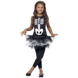 Costume da Scheletro con Tutù per Bambina
