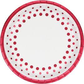 8 Piatti Sparkle and Shine Red 23 cm